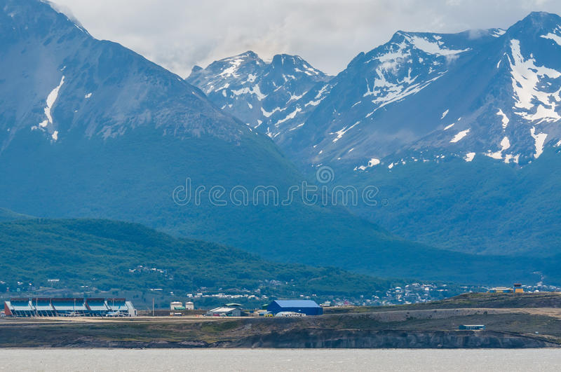 Ushuaia Malvinas Argentinas lotnisko międzynarodowe obrazy stock