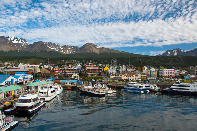 Ushuaia, Provincia De Tierra Del Fuego, La Argentina Imagen de archivo
