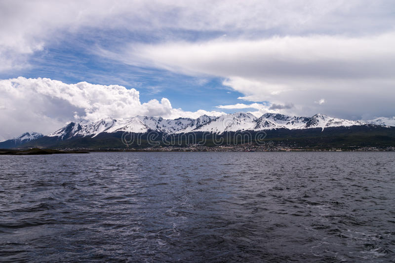 Download Ushuaia From A Boat In The Beagle Channel Stock Image - Image: 29704349