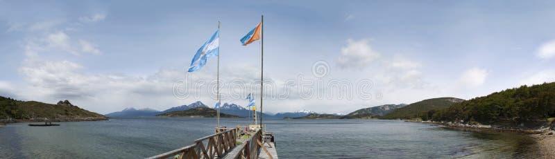 Ushuaia Sydamerika, Argentina, Patagonia, Tierra del Fuego royaltyfri bild