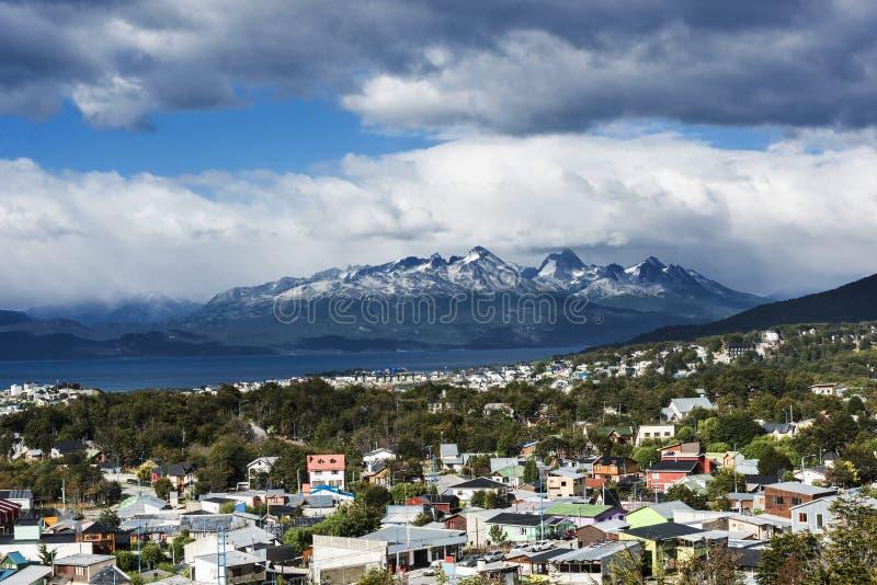 Ushuaia town in Tiera del Fuego in Argentina royalty free stock photos