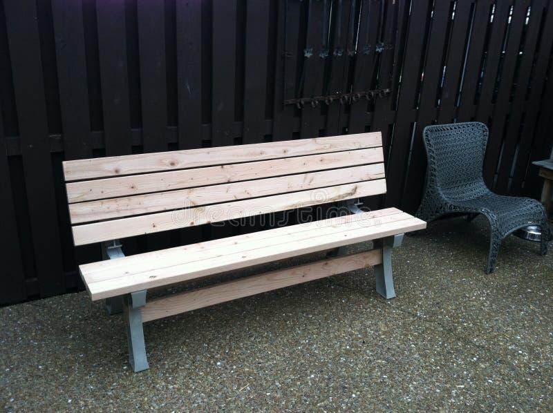 usiądź, drewniany obraz stock