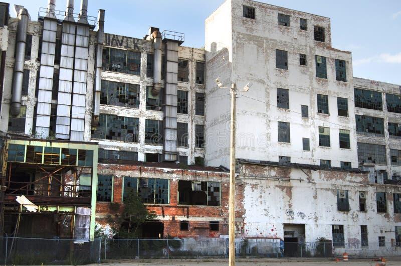 Usine abandonnée à Detroit photographie stock