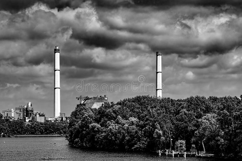 Usine d'air de Brown - Berlin 07 2018 image stock