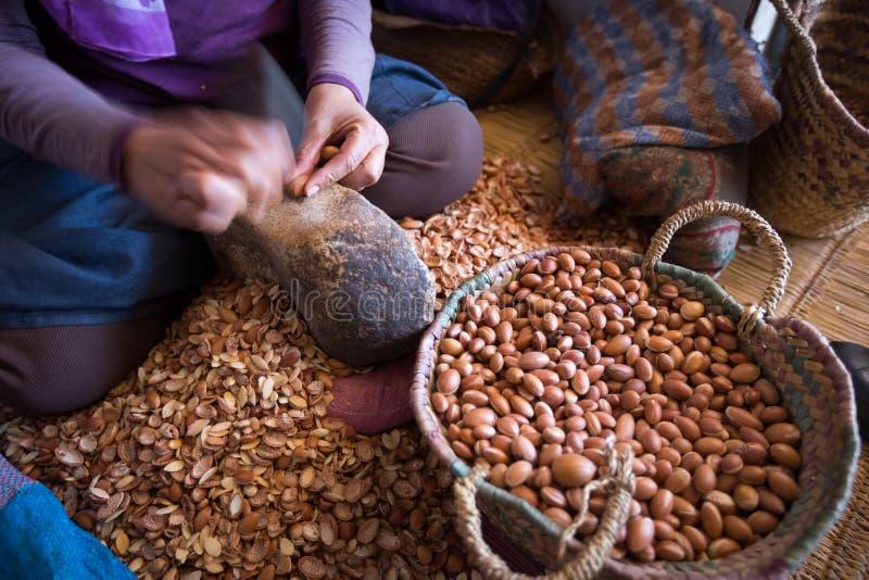 Usine d'huile d'argan au Maroc photographie stock