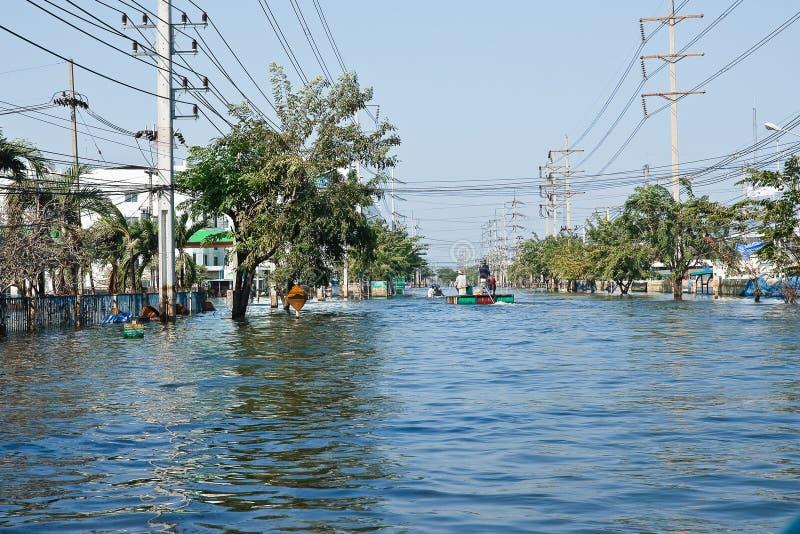 Usine d'inondation à Nava Nakorn Thaïlande industrielle images stock