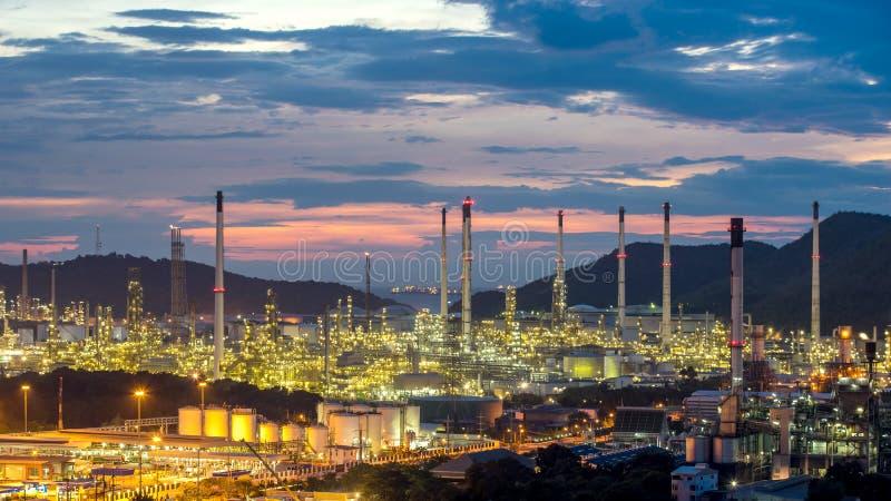 Usine d'usine pétrochimique de raffinerie de pétrole Thaïlande photo libre de droits