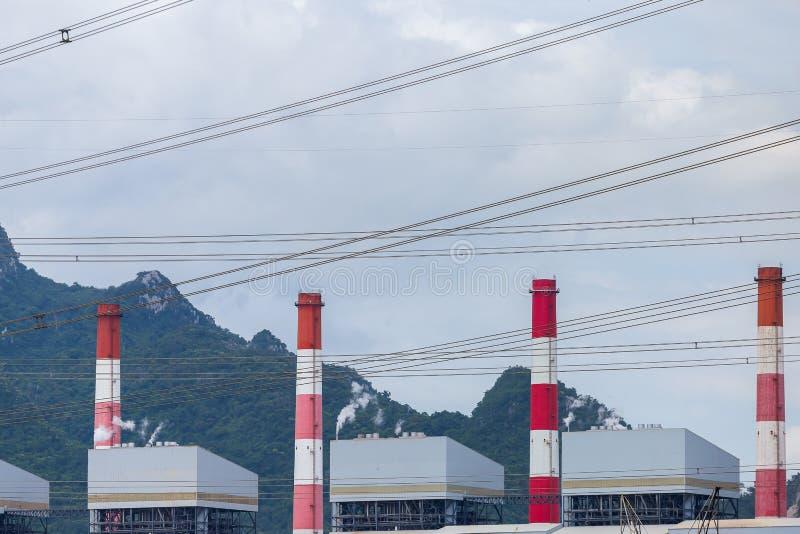 Usine de centrale à charbon de Mae Moh dans Lampang, Thaïlande image libre de droits