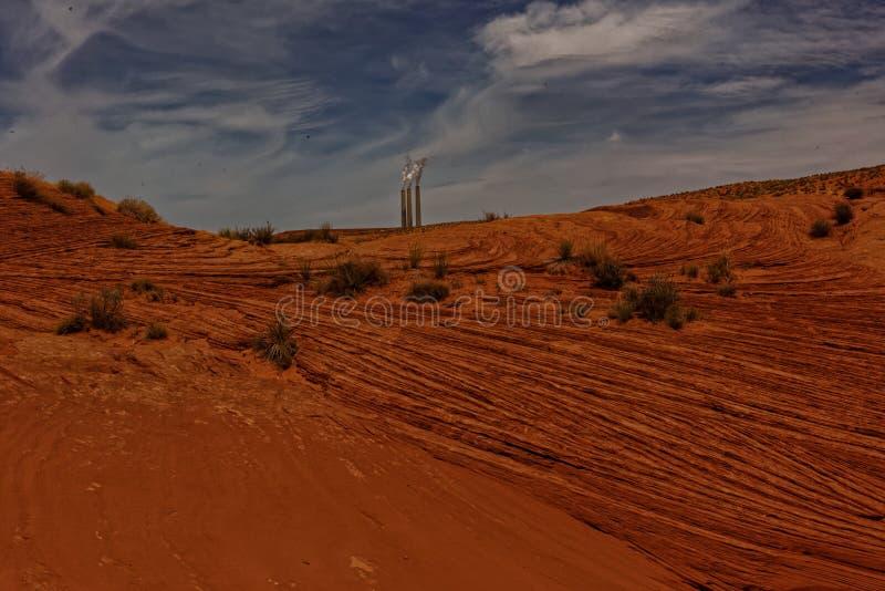 Usine de charbon de vallée et de Navajo d'antilope photos libres de droits