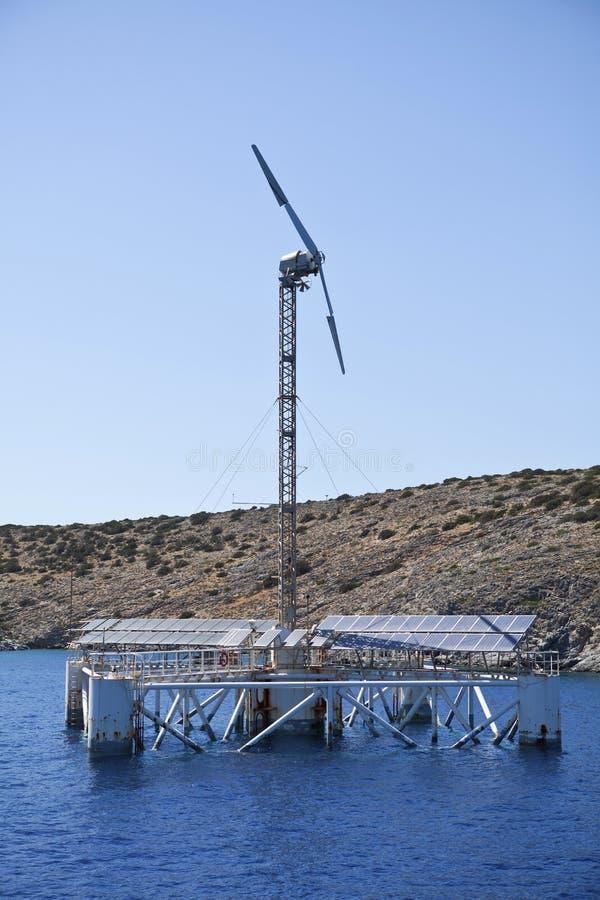 Usine de dessalement image stock
