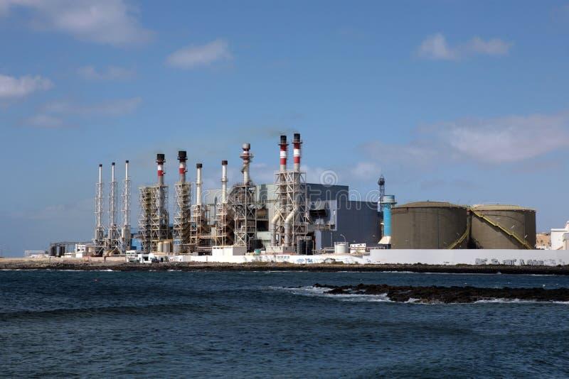 Usine de dessalement photo stock