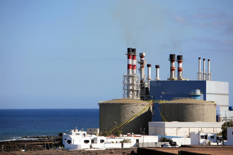 Usine de dessalement photos stock