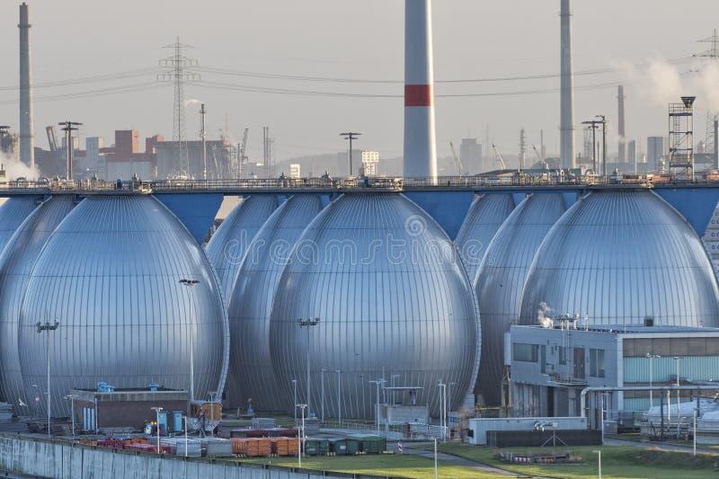 Usine de dessalement dans le port de Hambourg images libres de droits