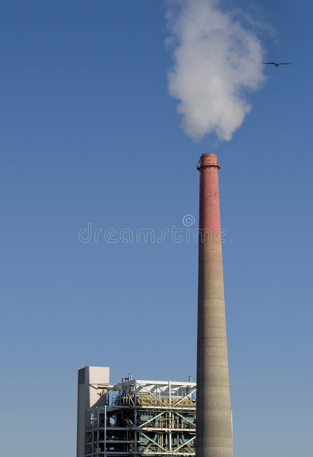Usine de pollution images stock