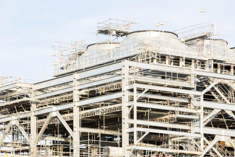 Usine de raffinerie de gaz naturel liquéfié images libres de droits