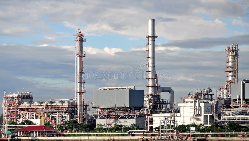 Usine de raffinerie de pétrole chez la Thaïlande image stock