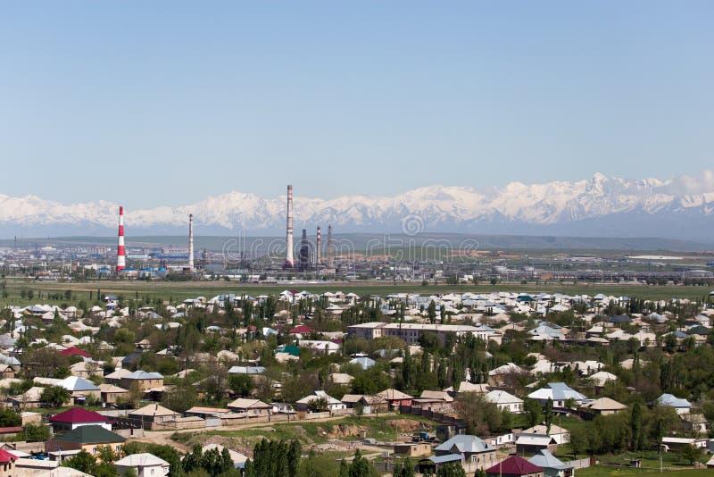 Usine de tuyau dans Shymkent kazakhstan photographie stock