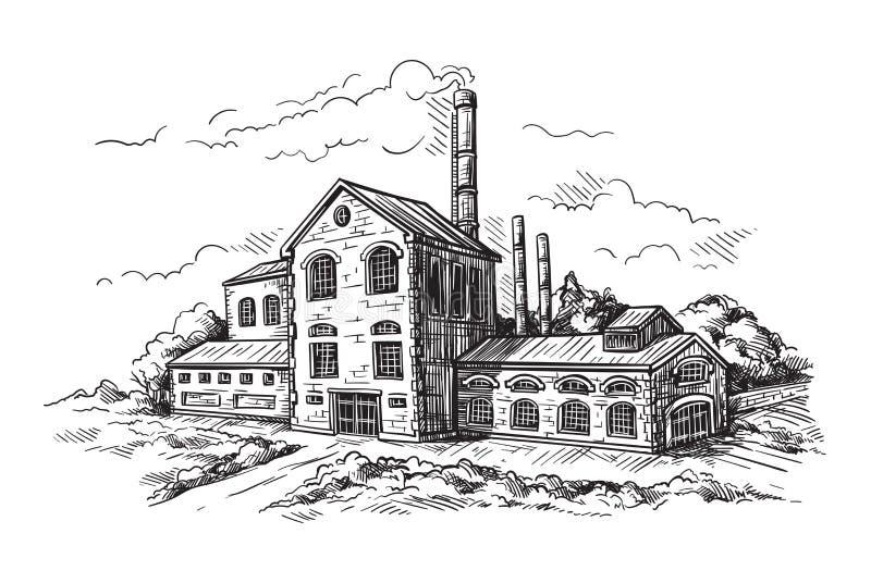 Usine industrielle de distillerie illustration de vecteur