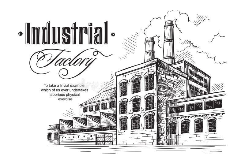 Usine industrielle de distillerie illustration libre de droits