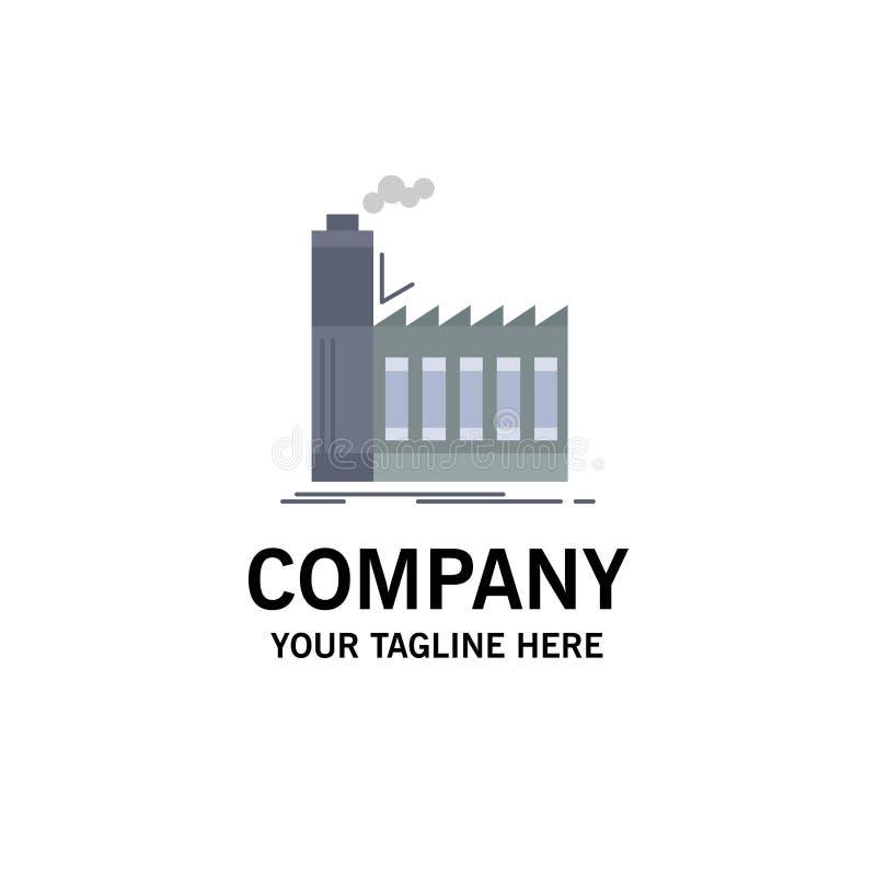 Usine, industrielle, industrie, fabrication, vecteur plat d'icône de couleur de production illustration libre de droits