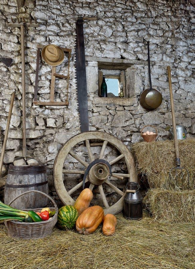 Usine la grange quatre photos libres de droits