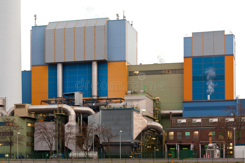 Usine moderne Oberhausen Allemagne de déchets-à-énergie photos libres de droits