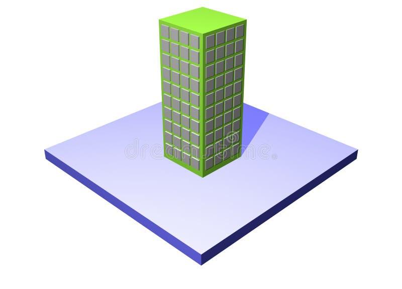Usine - série de construction d'affaires de chaîne d'approvisionnements illustration de vecteur