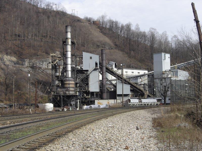 Usine trapézoïdale de préparation de charbon image stock