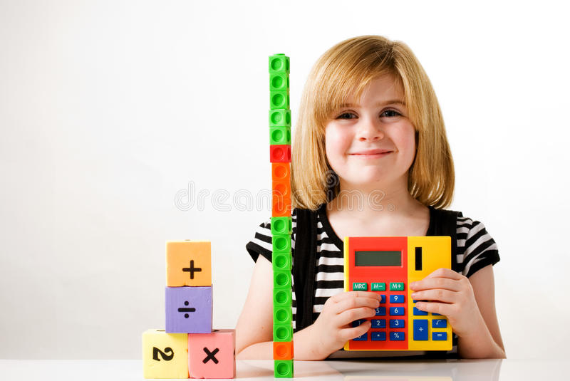 Using calculator royalty free stock photography