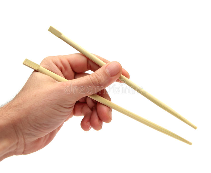 Using chopsticks royalty free stock photo