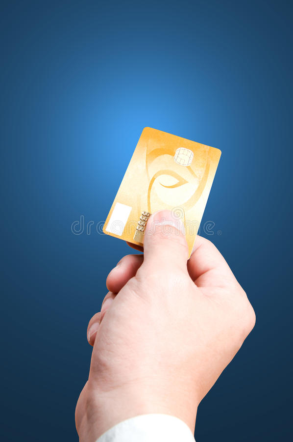 Using Credit card. Close up Payment machine on during using Credit card from customer in shopping mall royalty free stock photos