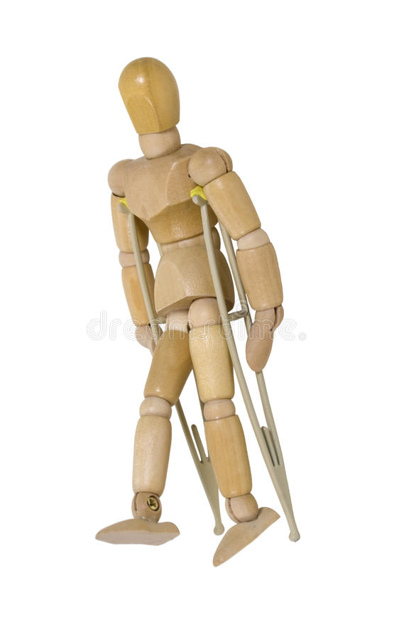 Using Crutches stock photo