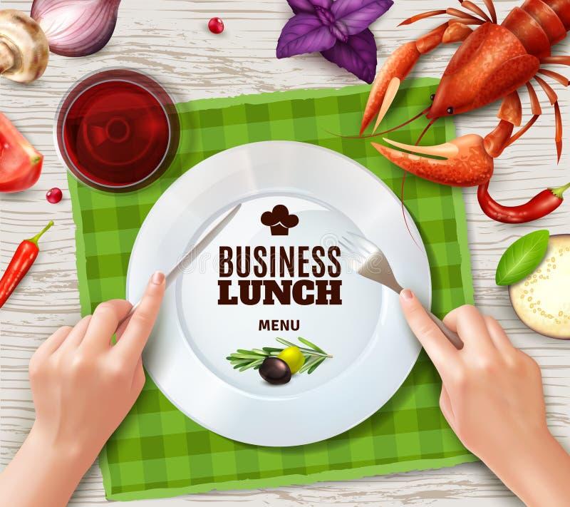 Realistic Hands Cutlery vector illustration