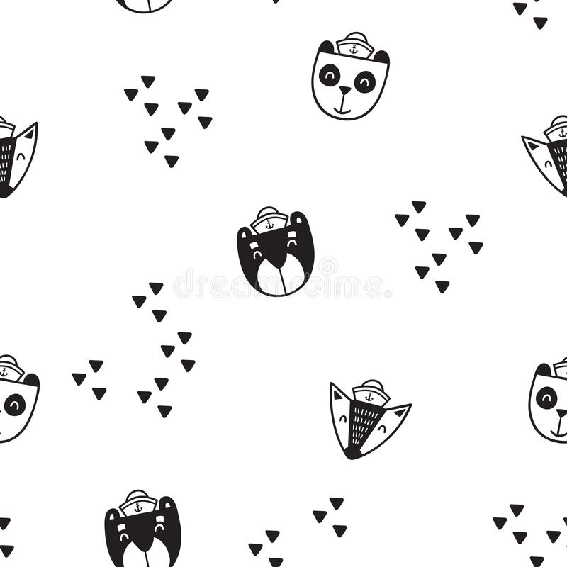 Pattern for kids, girls and boys. Vector illustration. It can be used to create prints, packaging, invitations, simple designs, gi royalty free stock photos