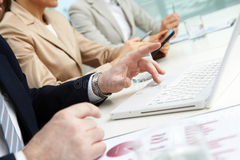 Download Using laptop stock image. Image of busy, part, hands - 27379725