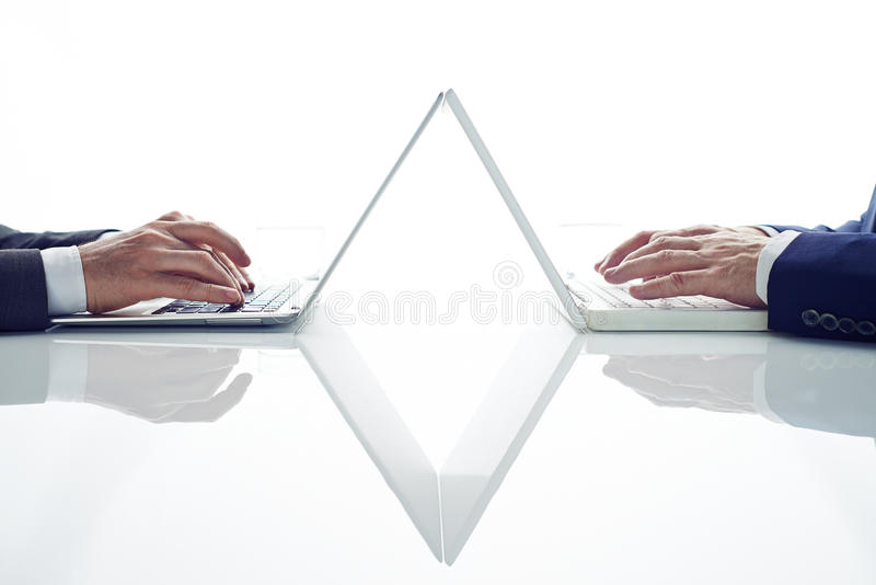 Using laptop royalty free stock image