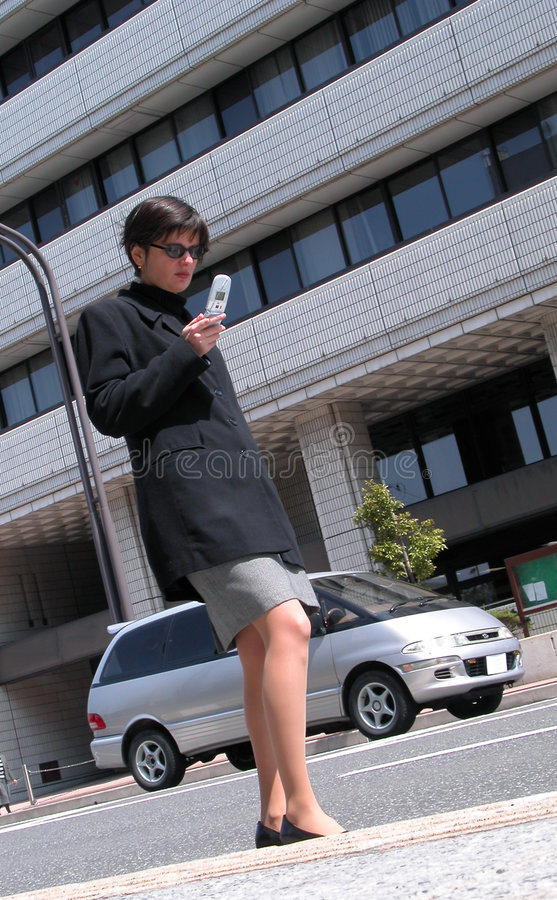 Using mobile phone in a street