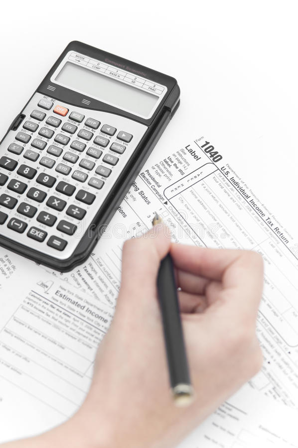 Download Using A Pen And A Calculator Editorial Image - Image: 21882630