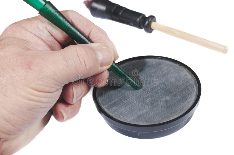 Download Using A Slate Call Stock Images - Image: 14253714
