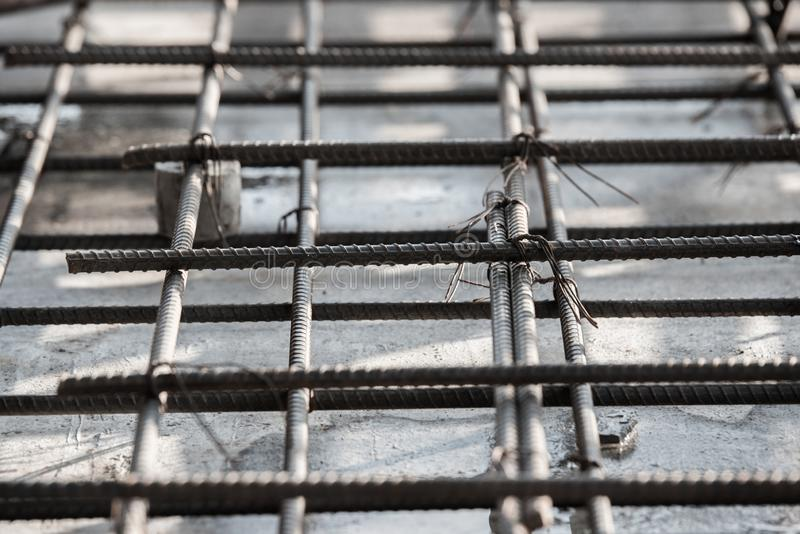 steel bars reinforcement of concrete royalty free stock photography