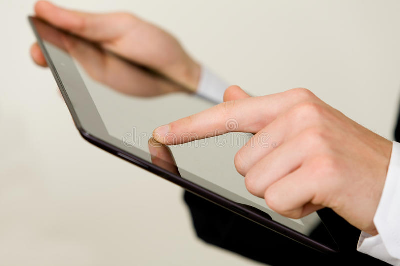 Using Tablet Royalty Free Stock Image
