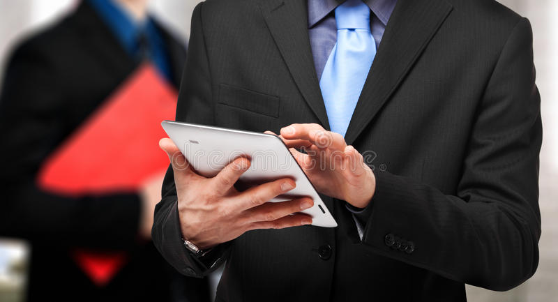 Download Using a tablet stock image. Image of businessman, business - 28669607