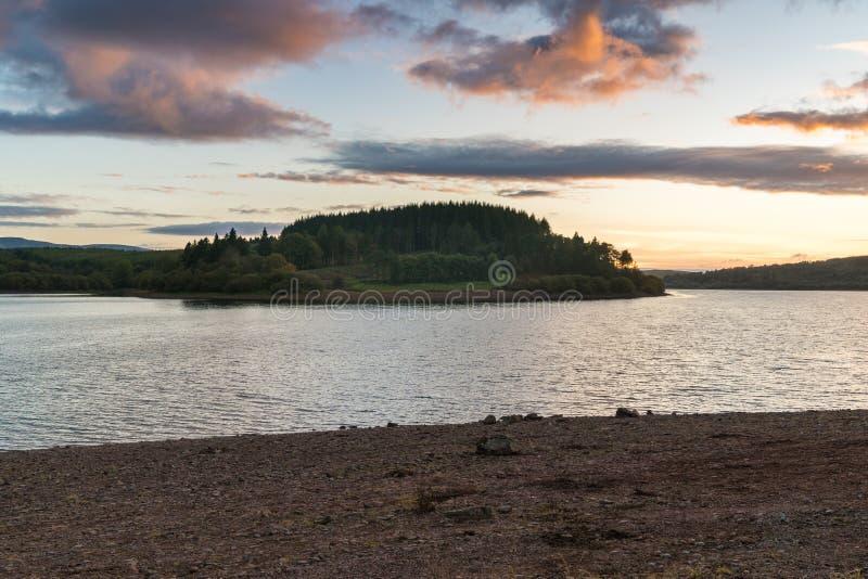 Usk Reservoir, Wales, UK stock photos