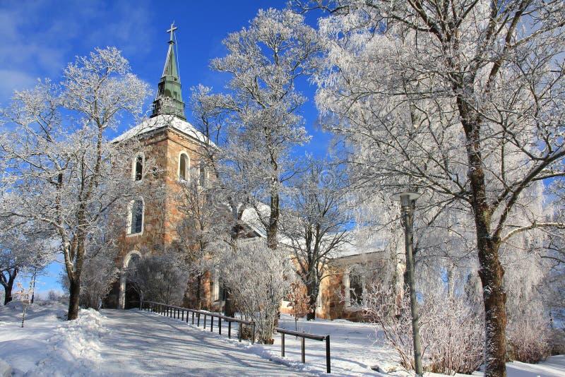 Uskela Kirche in Salo, Finnland lizenzfreie stockbilder