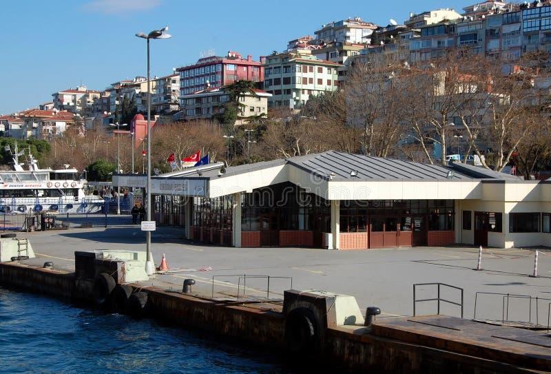 Uskudar Pier in Istanbul. ISTANBUL, TURKEY - JAN 16, 2013 - View on Uskudar Pier in Istanbul, Turkey stock image