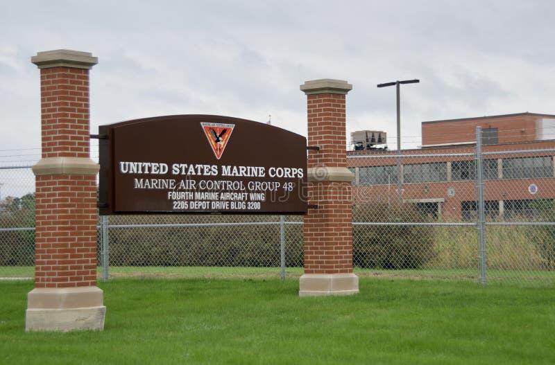 USMC控制空中作战小组,大湖伊利诺伊 免版税库存图片