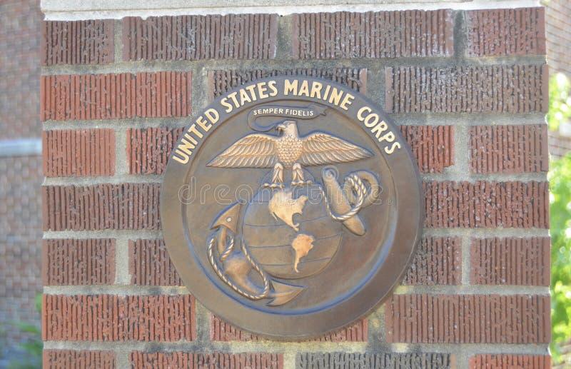 USMC老鹰、地球和船锚挑战硬币 免版税库存图片