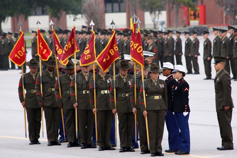 USMC het Eiland van Parris van de Graduatie stock foto
