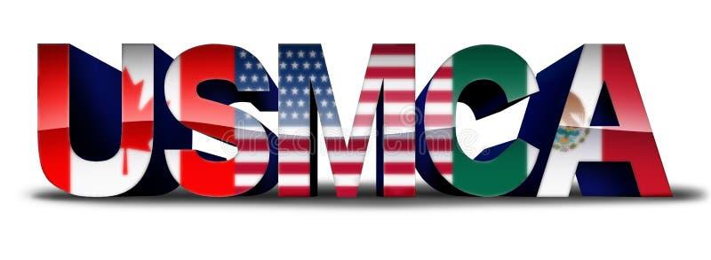 USMCA-Symbool voor Handelsovereenkomst royalty-vrije illustratie
