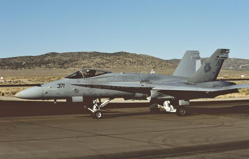 USN McDonnell Douglas Boeing F/A-18A BuNo 162886 bij NAF Gr Centro op 1 September, 2009 stock fotografie
